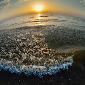 Adriatic sunrise by Lucian Satmarean - Landscapes Waterscapes