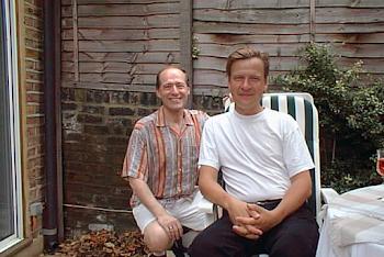 With Magnus Lindberg, at home, 1991
