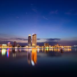 Sun Set in Da Nang by Quoc Tran - Landscapes Travel ( da nang, ourstanding, han river, by night, sunset, vietnam, stunning )