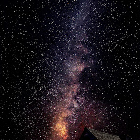 Milky Way Church by Shawn Thomas - Landscapes Starscapes (  )