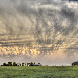 Oklahoma Skies by DB Channer - Landscapes Cloud Formations