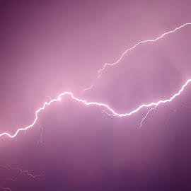 Lightning  by Shanna L Christensen - Uncategorized All Uncategorized ( lightning, sky, storm, light, nature, streak )