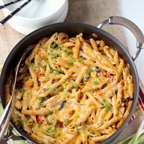Four Cheese Chicken Enchilada Pasta