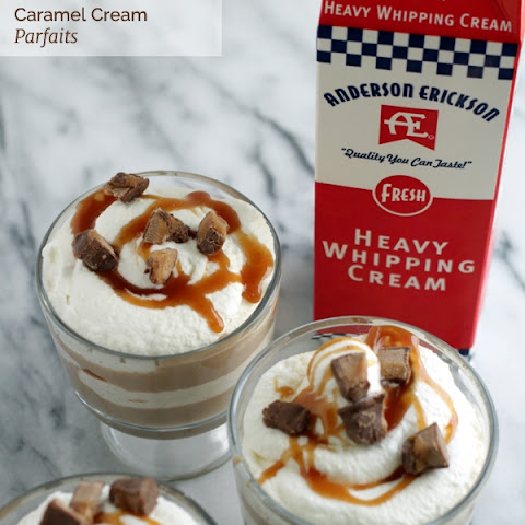 Chocolate & Caramel Cream Parfaits