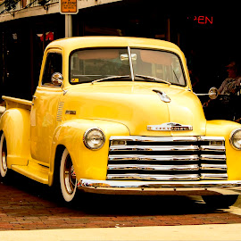 1950s Chevy Pickup by Phil Deets - Transportation Automobiles ( pickup, chevrolet, yellow, chevy )