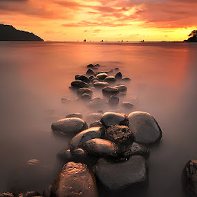Rows of Stone by Fredy Hariyetno Full - Landscapes Sunsets & Sunrises