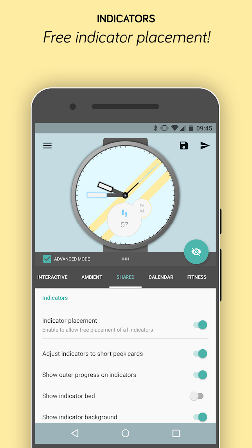 Pujie Black Android Wear Watch Face Designer Screenshot 13