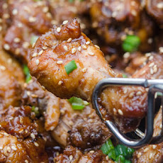 Slow Cooker Asian BBQ Chicken Wings