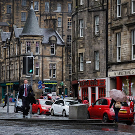 Edinburgh Street by George Nichols - City,  Street & Park  Street Scenes ( scotland, uk, europe, edinburgh, street )