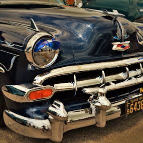 Blue Chevy by Benito Flores Jr - Transportation Automobiles ( round up, austin, car club, car show, texas )