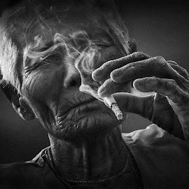 Leisure by Chaitali Bhattacharya - Black & White Portraits & People