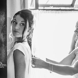ready? by Marek Kuzlik - Wedding Getting Ready ( help, preparation, bridemaids, dress, wedding, a look, bride )