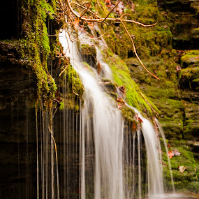 Ozark Waterfall by Jamie Newton - Landscapes Waterscapes