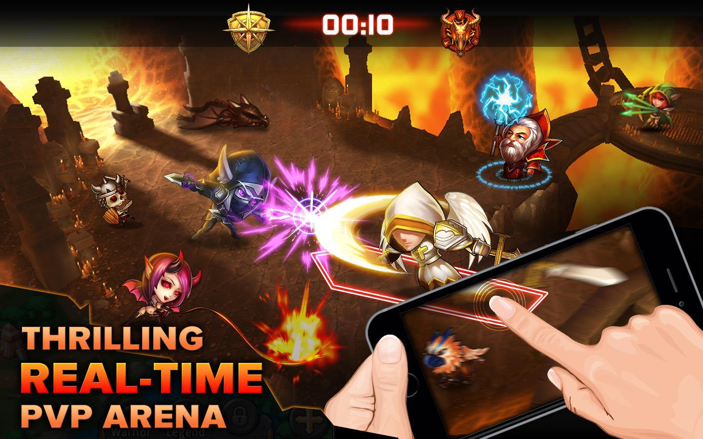 Heroes Tactics: Strategy PvP Screenshot 0