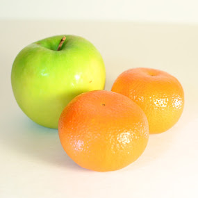 Apples and Oranges  by Sawyer Jones Photography  - Products & Objects Business Objects ( studio, continuous, fruit, stock, white, oranges, apples, d7000., lighted, photography )