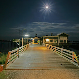 Peaceful Night by Harry James - City,  Street & Park  Night ( coastal georgia, golden isles, night photography, jekyll island, island )
