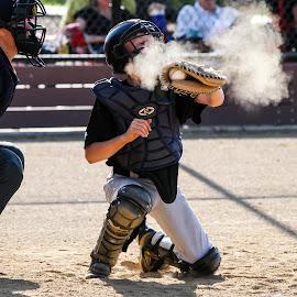 Cough, cough, wheeze by Mark Tart - Sports & Fitness Baseball ( juniors, jarrod, baseball, gold rush little league, youth sports, little league )