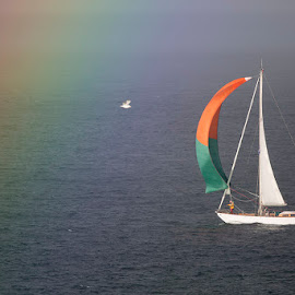 Entering the Rainbow by Denis Keith - Transportation Boats