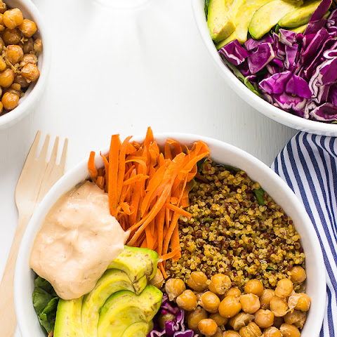 Nourish Buddha Bowl with Harissa Tahini Dressing