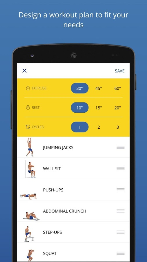 P4P 7 Minute Workout PRO Screenshot 0
