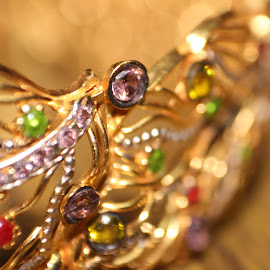 old is gold by Arjun Madhav - Abstract Macro ( designs, gems. gold, shine, gold, bangles )
