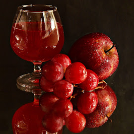Nectar by Prasanta Das - Food & Drink Alcohol & Drinks ( grapes, apple, cup of wine, nectar )