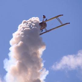 Air Show Biplane by Robin Smith - Transportation Airplanes ( aviation, airplanes, transportation, people, air show )