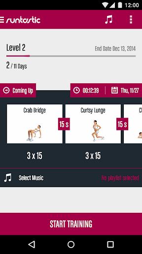 Runtastic Butt Trainer Workout screenshot 1