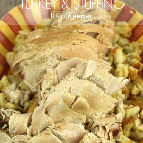 Slow Cooker Turkey & Stuffing