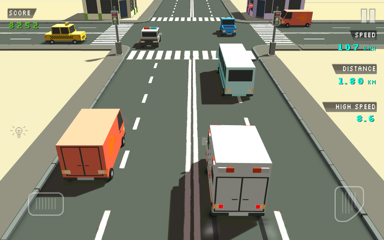 Blocky Traffic Racer Screenshot 1