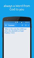 Screenshot of Bible Promise Box