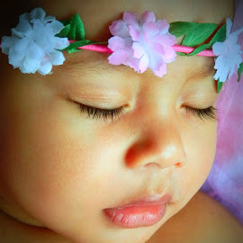 Dreamy Flower Girl by Kandi's  Photography - Babies & Children Child Portraits ( dreaming, babies, dreams, kandi's photography, sleeping, baby )