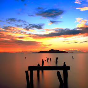 Sunset My Island by Moh Maulana Lana - Landscapes Waterscapes