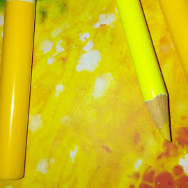 Yellow Is In by Marlene Adler - Novices Only Objects & Still Life ( yellow art )