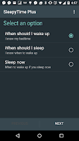 Screenshot of SleepyTime Plus