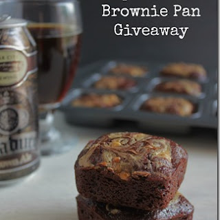 Chocolate and Peanut Butter Brownies with Brown Ale