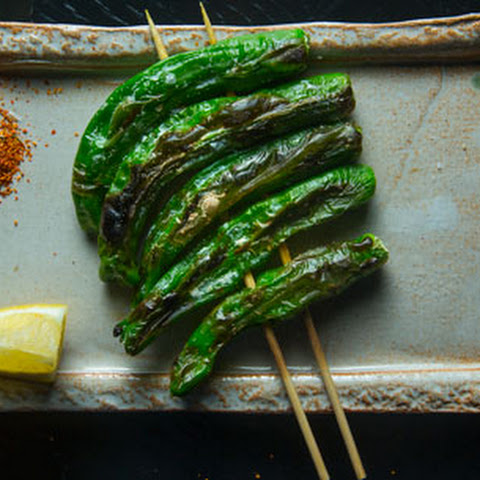 Grilled Shishito Peppers with Shichimi Togarashi