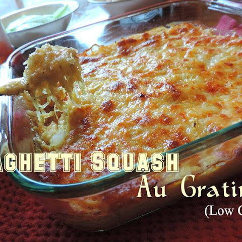 Spaghetti Squash Au Gratin – Low Carb and Gluten Free