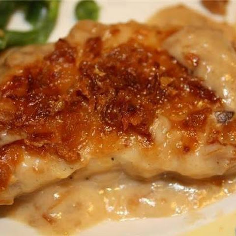 Pork Chop Casserole with French Fried onion Crust