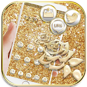 App Gold Rose Glitter Theme Wallpaper APK for Windows Phone