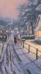 Painting Christmas streets.LWP - screenshot