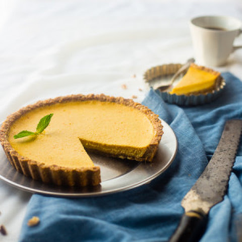 Healthy Orange Pie with Almond Crust {High Protein + Gluten Free}