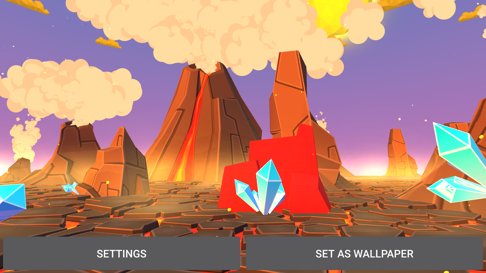 Volcano 3D Live Wallpaper Screenshot 18