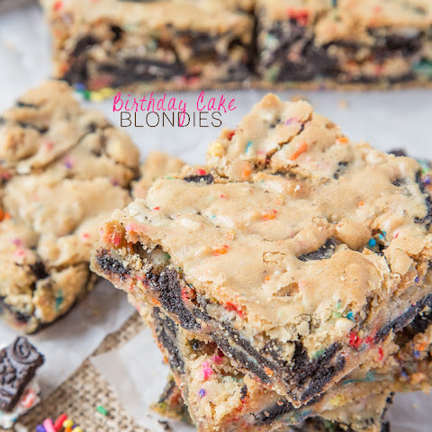 Birthday Cake Blondies
