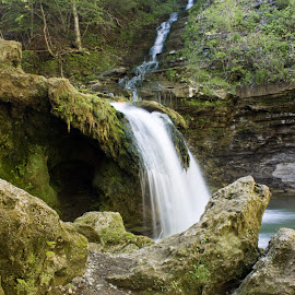 Creamery Falls  by William Hayes - Novices Only Landscapes ( stream, upstate, creamery falls, vanhornesville, long exposure, new york, spring )