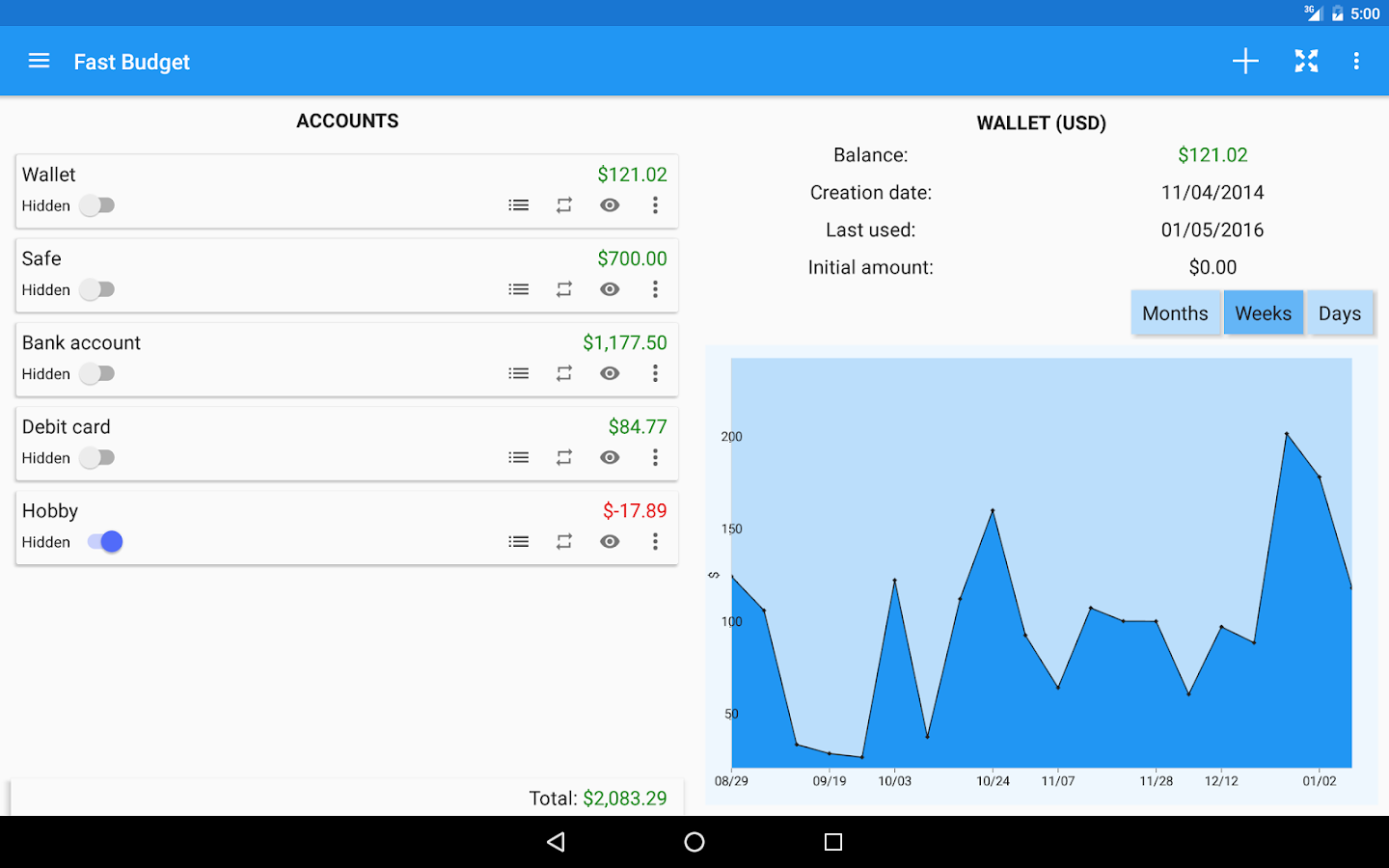 Fast Budget - Expense Manager Screenshot 10