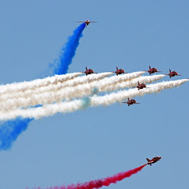 Red Arrows by Ingrid Anderson-Riley - Transportation Airplanes