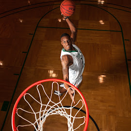 LeQuavius Cotton Dunk Champ by Rory Doyle - Sports & Fitness Basketball ( basketball, dunk, fear the okra, delta state university, statesmen, lequavius cotton, mississippi )