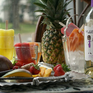 Fruity Popsicles in Moscato (Poptails)