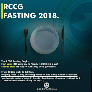 RCCG Fasting and Prayers 2018